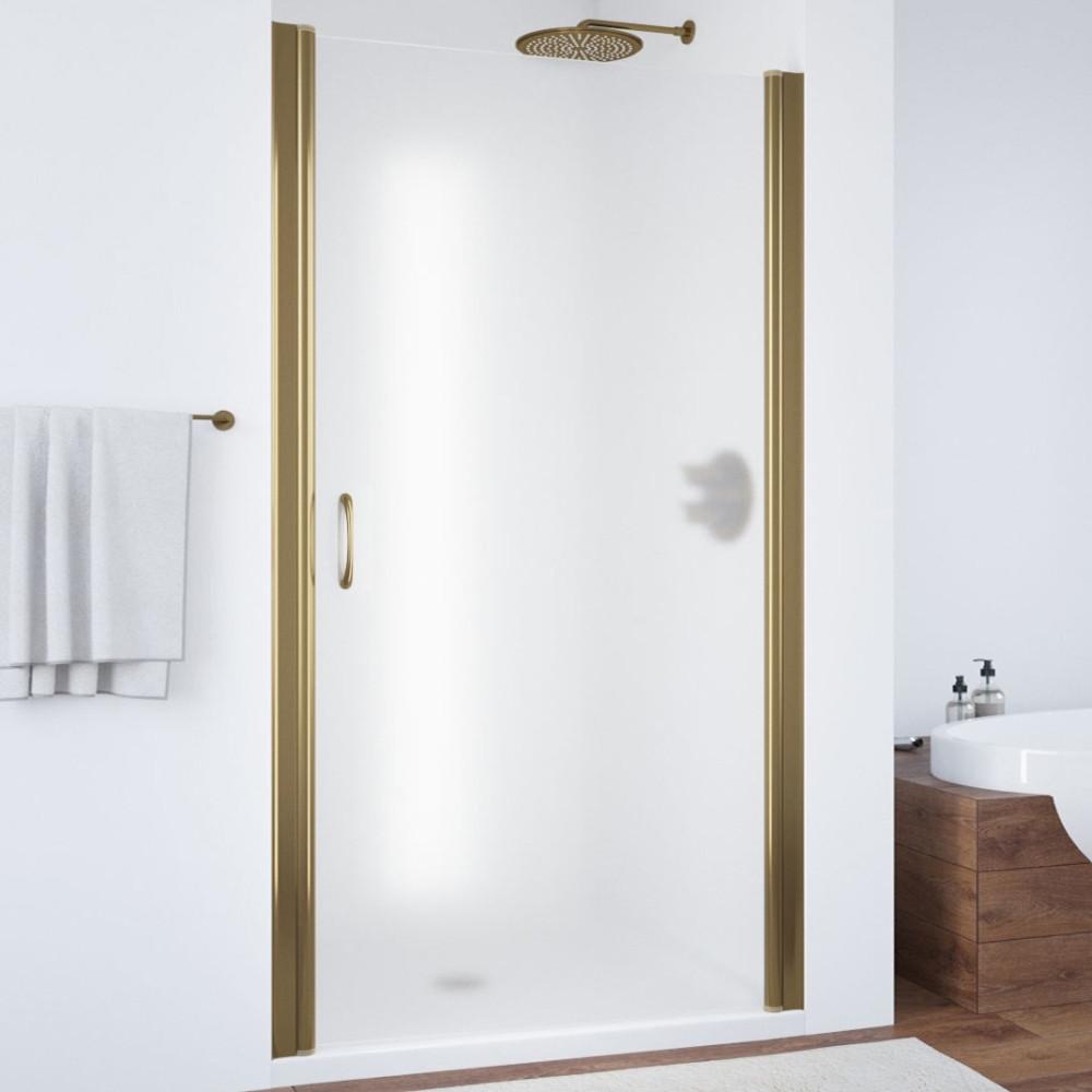 Душевая дверь в нишу Vegas Glass EP 85 05 10 профиль бронза, стекло сатин