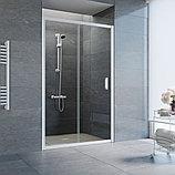 Душевая дверь в нишу Vegas Glass ZP 120 01 01 профиль белый, стекло прозрачное, фото 2