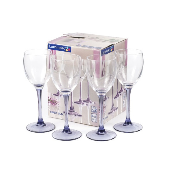 Набор фужеров для вина Luminarc SWEET LILAC 190 мл. (4 штуки)