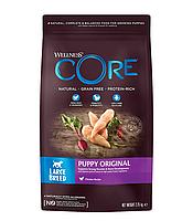 Сухой беззерновой корм для щенков крупных пород Wellness Core Puppy с курицей