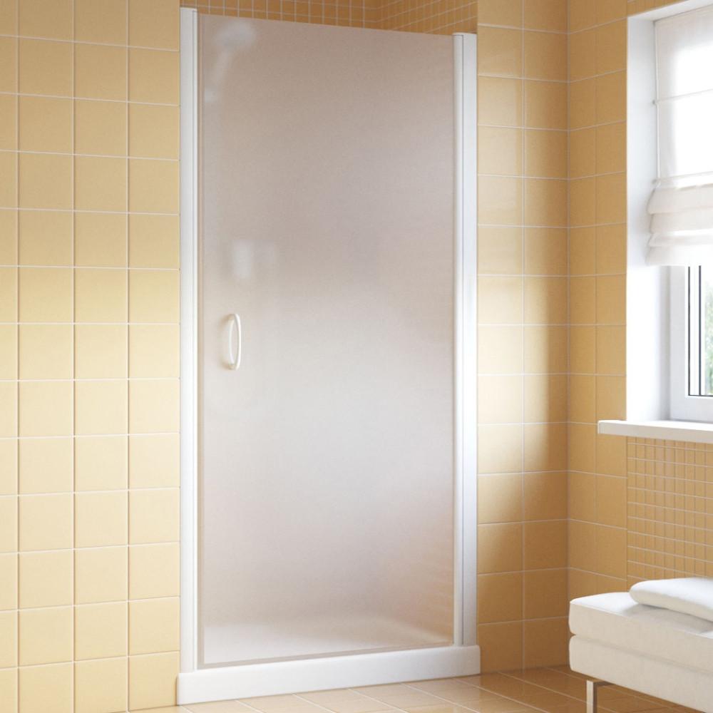 Душевая дверь в нишу Vegas Glass EP Lux 75 01 10 R профиль белый, стекло сатин