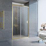 Душевая дверь в нишу Vegas Glass ZP 100 09 02 профиль золото, стекло шиншилла, фото 2