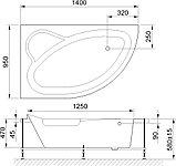 Акриловая ванна Royal Bath Alpine RB 819103 L 140 см + слив-перелив, фото 6