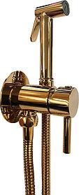 Гигиенический душ Paffoni Tweet Round ZDUP110HG со смесителем, С ВНУТРЕННЕЙ ЧАСТЬЮ