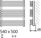 Полотенцесушитель электрический Terma Alex + MOA 50x54 белый, 300W, фото 5