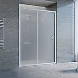 Душевая дверь в нишу Vegas Glass ZP 140 07 10 профиль матовый хром, стекло сатин, фото 2