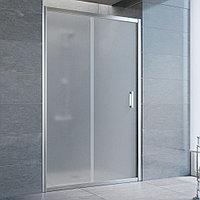 Душевая дверь в нишу Vegas Glass ZP 125 08 10 профиль глянцевый хром, стекло сатин
