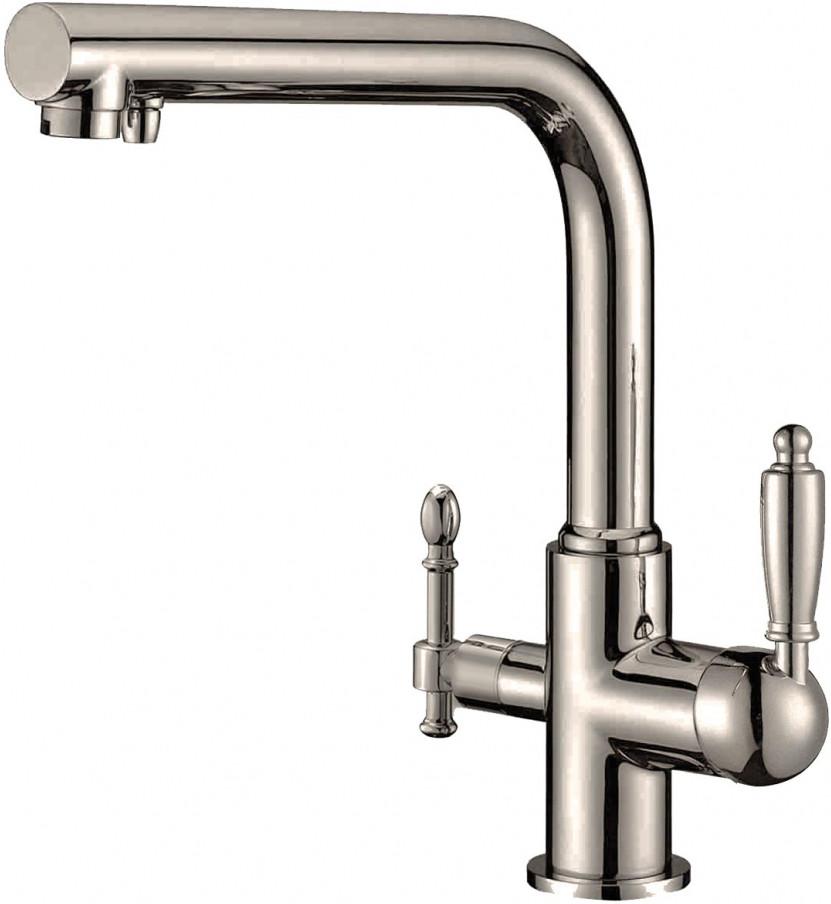 Смеситель Zorg Clean Water ZR 313 YF-33 NICKEL для кухонной мойки