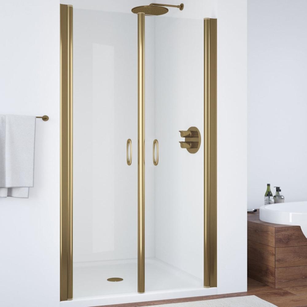 Душевая дверь в нишу Vegas Glass E2P 95 05 01 профиль бронза, стекло прозрачное