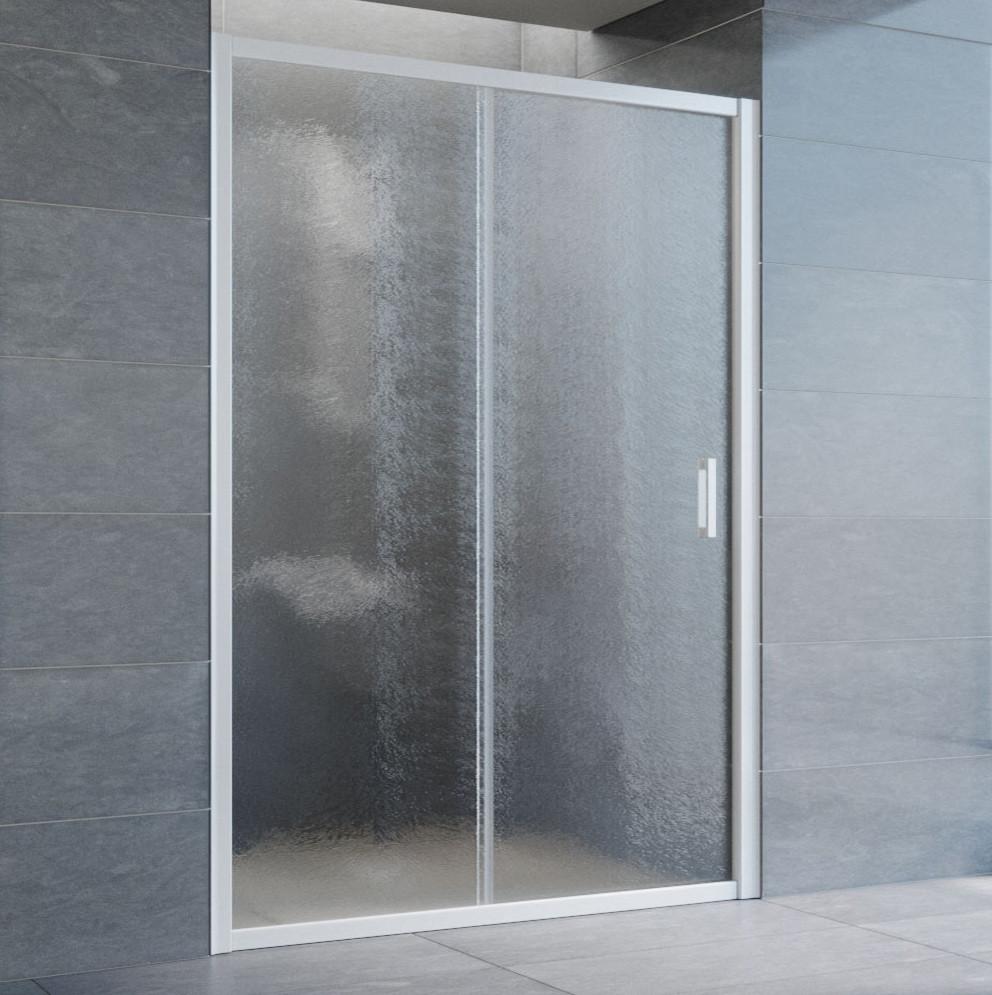 Душевая дверь в нишу Vegas Glass ZP 135 01 02 профиль белый, стекло шиншилла