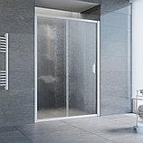 Душевая дверь в нишу Vegas Glass ZP 135 01 02 профиль белый, стекло шиншилла, фото 2