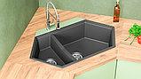 Мойка кухонная KitKraken Creek Graphite темно-серая, фото 3