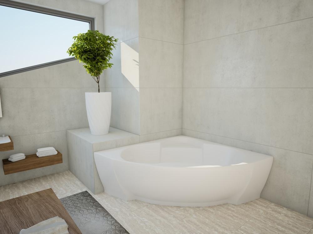 Акриловая ванна Акватек Поларис – 1 вклеенный каркас