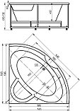 Акриловая ванна Акватек Поларис – 1 вклеенный каркас, фото 4
