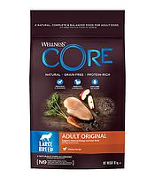 Сухой беззерновой корм для собак крупных пород Wellness Core Adult Original с курицей