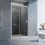 Душевая дверь в нишу Vegas Glass ZP 110 07 01 профиль матовый хром, стекло прозрачное, фото 2