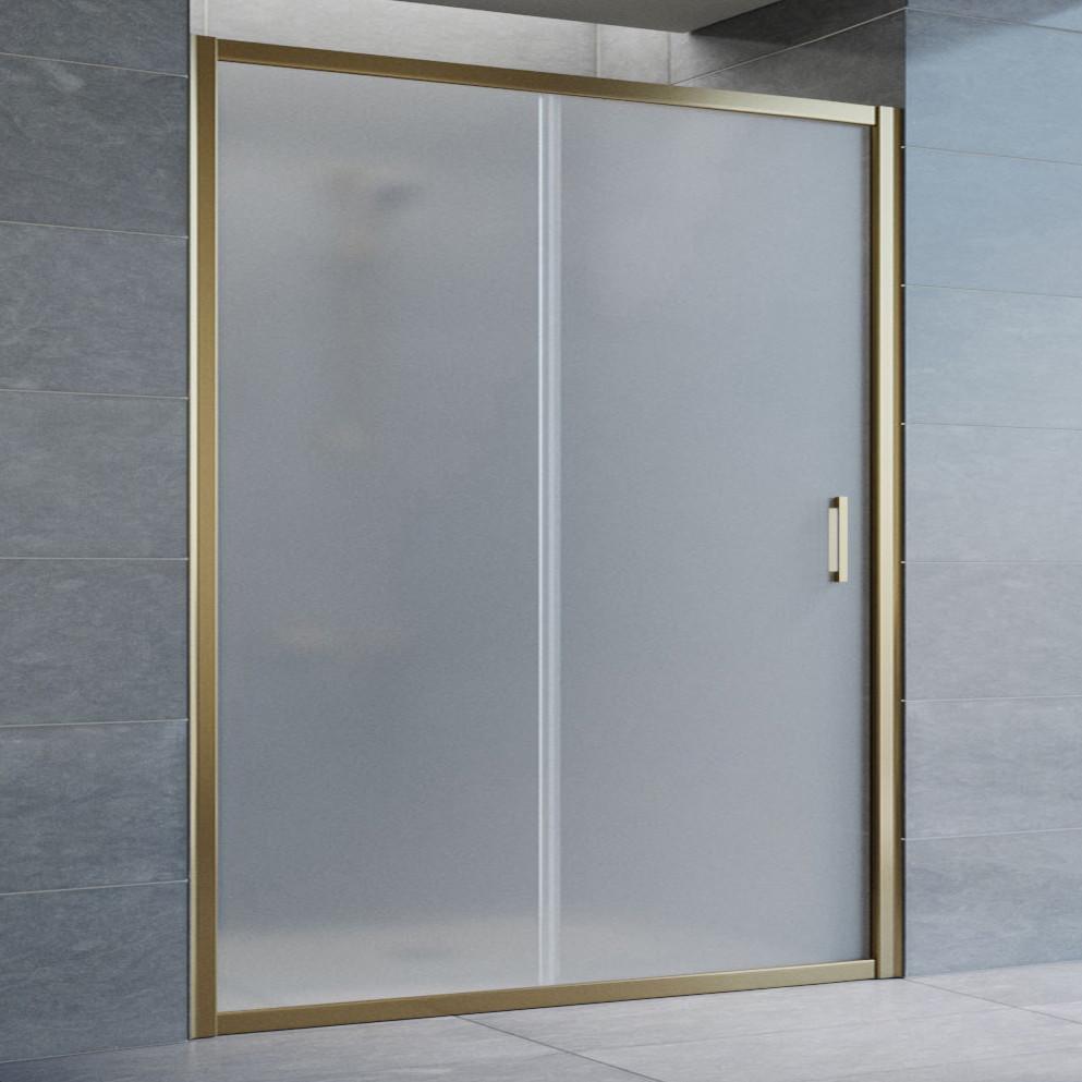 Душевая дверь в нишу Vegas Glass ZP 160 05 10 профиль бронза, стекло сатин
