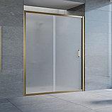 Душевая дверь в нишу Vegas Glass ZP 160 05 10 профиль бронза, стекло сатин, фото 2