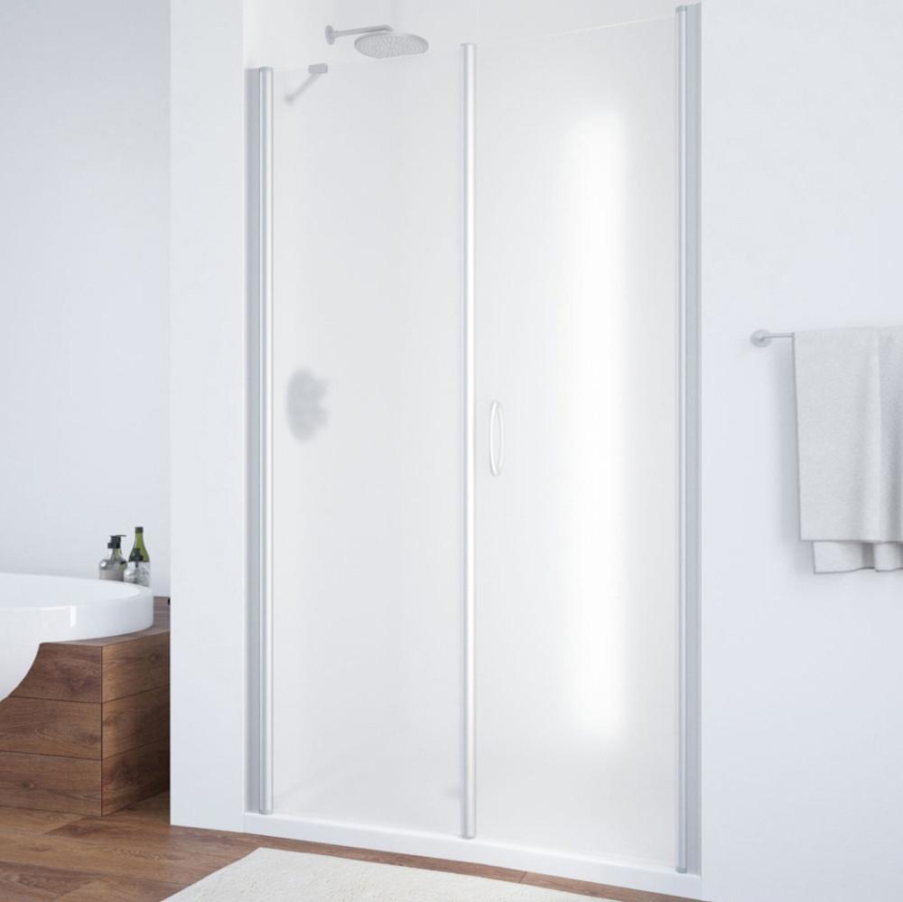 Душевая дверь в нишу Vegas Glass EP-F-2 105 07 10 R профиль матовый хром, стекло сатин