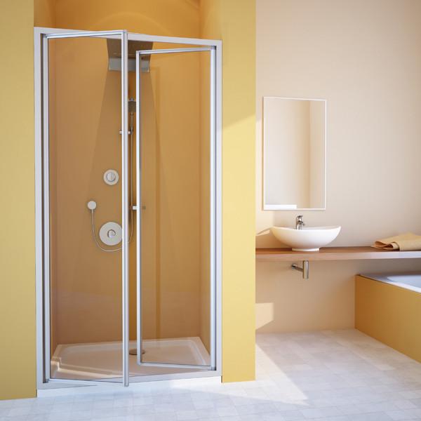 Душевая дверь в нишу GuteWetter Practic Door GK-402 108-112 см стекло бесцветное, профиль матовый хром