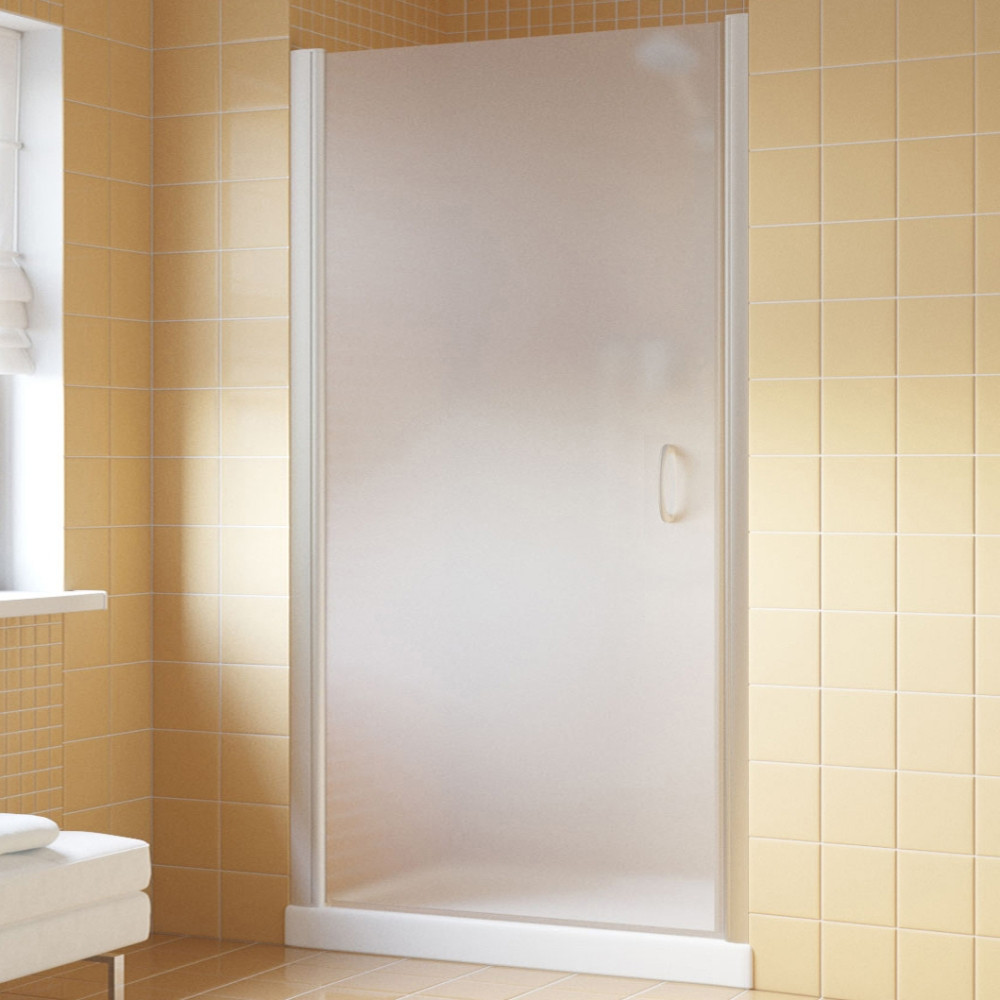Душевая дверь в нишу Vegas Glass EP Lux 90 07 10 L профиль матовый хром, стекло сатин