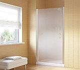 Душевая дверь в нишу Vegas Glass EP Lux 90 07 10 L профиль матовый хром, стекло сатин, фото 2
