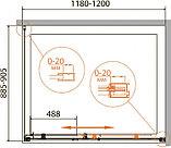 Душевой уголок Cezares Relax AHF-1-120/90-P-Bi стекло punto, фото 4