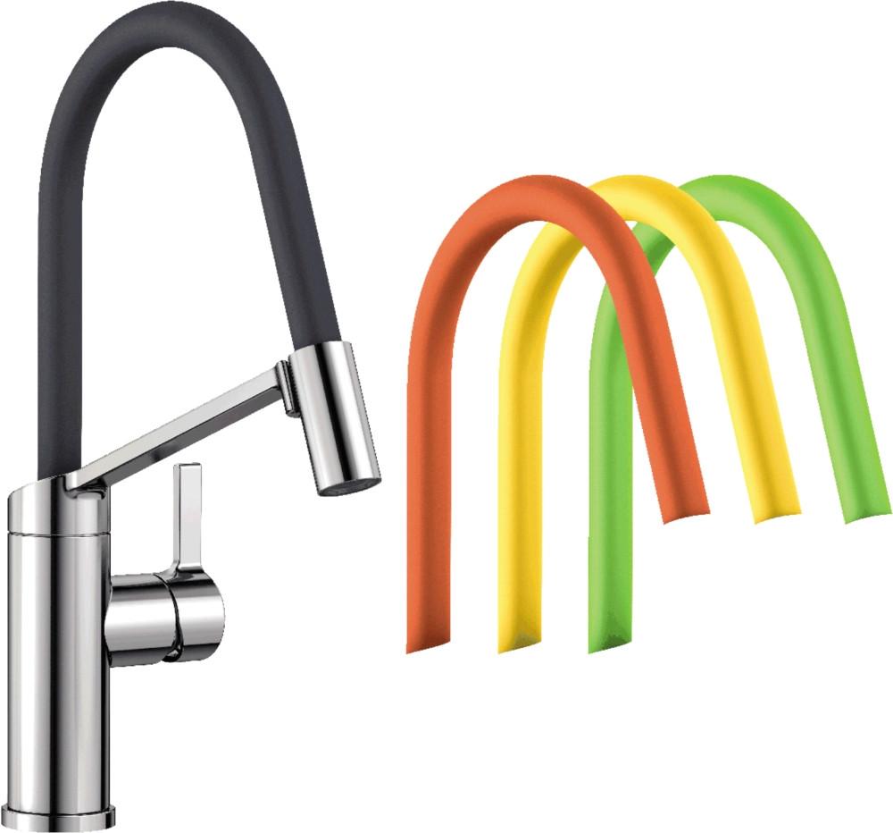 Смеситель Blanco Viu-S 524813 для кухонной мойки, 4 цветных съемных шланга