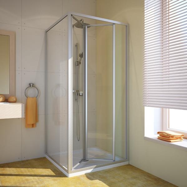 Душевой уголок GuteWetter Practic Square GK-404 правая 80x80 см стекло бесцветное, профиль матовый хром