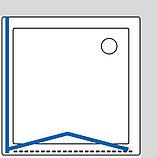 Душевой уголок GuteWetter Practic Square GK-404 правая 80x80 см стекло бесцветное, профиль матовый хром, фото 8