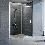 Душевая дверь в нишу Vegas Glass ZP 150 08 01 профиль глянцевый хром, стекло прозрачное, фото 2