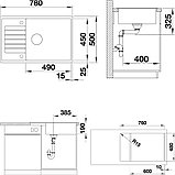 Мойка кухонная Blanco Zia XL 6S Compact 523278 жасмин, фото 2