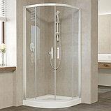 Душевой уголок Vegas Glass ZS 100 01 01 профиль белый, стекло прозрачноe, фото 2