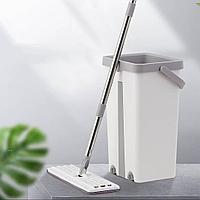 Швабра и ведро с отжимом Magic Flat Mop (набор для влажной уборки Mop & Bucket), 7л