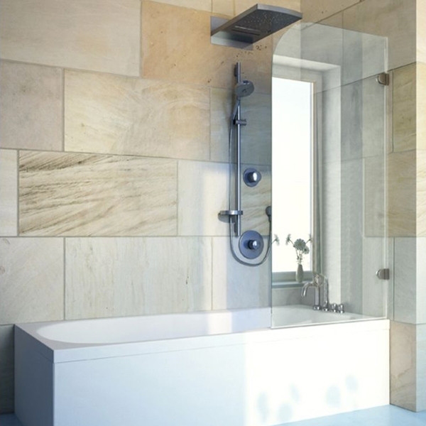Шторка на ванну GuteWetter Lux Pearl GV-001A правая 50 см стекло бесцветное, фурнитура хром