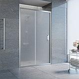 Душевая дверь в нишу Vegas Glass ZP 120 08 10 профиль глянцевый хром, стекло сатин, фото 2