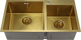 Мойка кухонная Melana S8045HG золото