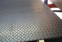 Лист стальной рифленый чечевица Ст5Гпс 8х600 мм