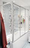 Шторка на ванну GuteWetter Practic Part GV-413 правая 165x75 см стекло бесцветное, профиль матовый хром, фото 2