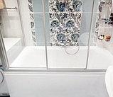 Шторка на ванну GuteWetter Practic Part GV-413 правая 165x75 см стекло бесцветное, профиль матовый хром, фото 3
