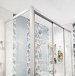 Шторка на ванну GuteWetter Practic Part GV-413 правая 165x75 см стекло бесцветное, профиль матовый хром, фото 4