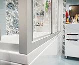 Шторка на ванну GuteWetter Practic Part GV-413 правая 165x75 см стекло бесцветное, профиль матовый хром, фото 5