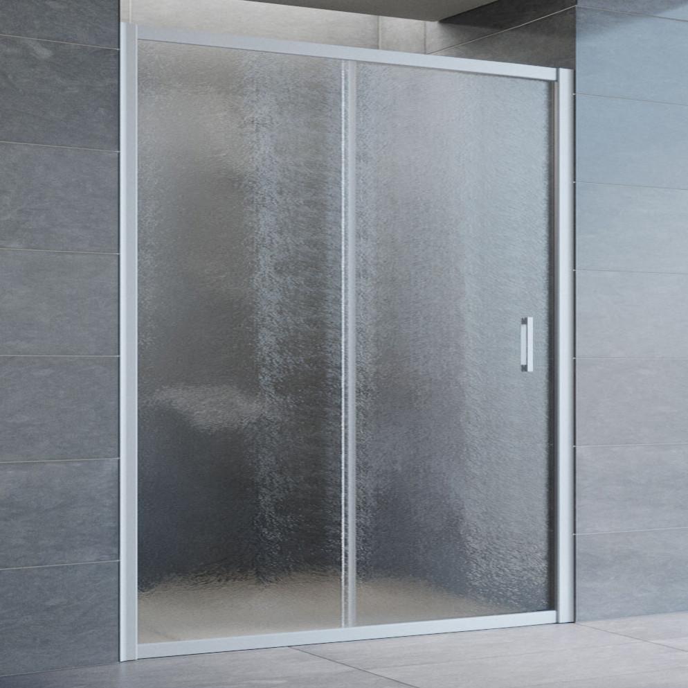Душевая дверь в нишу Vegas Glass ZP 160 07 02 профиль матовый хром, стекло шиншилла