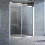 Душевая дверь в нишу Vegas Glass ZP 160 07 02 профиль матовый хром, стекло шиншилла, фото 2