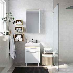 Комплект Унитаз подвесной Cersanit Carina new clean on + Мебель для ванной STWORKI Дублин 50