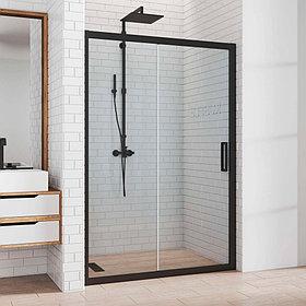 Душевая дверь в нишу Kubele DE019D2-CLN-BLMT 175 см, профиль матовый черный