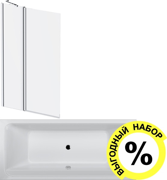 Акриловая ванна AM.PM Inspire V2.0 W52A-180-080W-A с каркасом + шторка на ванну + сертификат IVI AM.PM