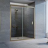 Душевая дверь в нишу Vegas Glass ZP 150 05 01 профиль бронза, стекло прозрачное, фото 2