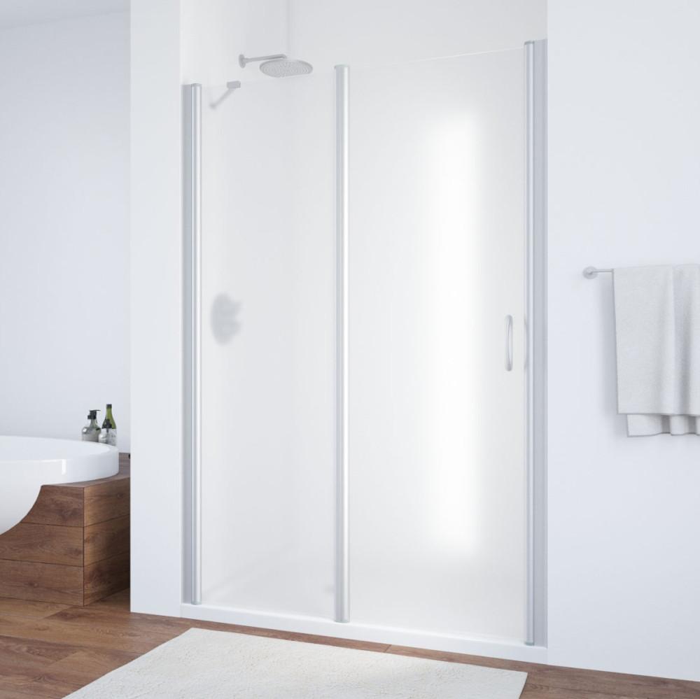Душевая дверь в нишу Vegas Glass EP-F-1 135 07 10 L профиль матовый хром, стекло сатин