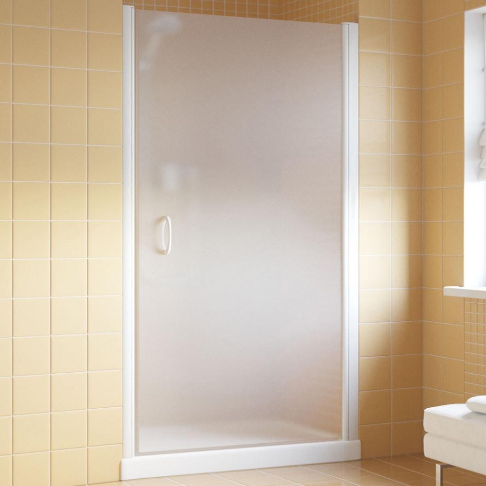 Душевая дверь в нишу Vegas Glass EP Lux 95 01 10 R профиль белый, стекло сатин